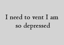 I need to vent I am so depressed