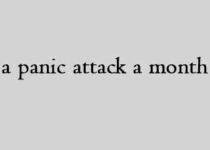 Got a panic attack a month ago.